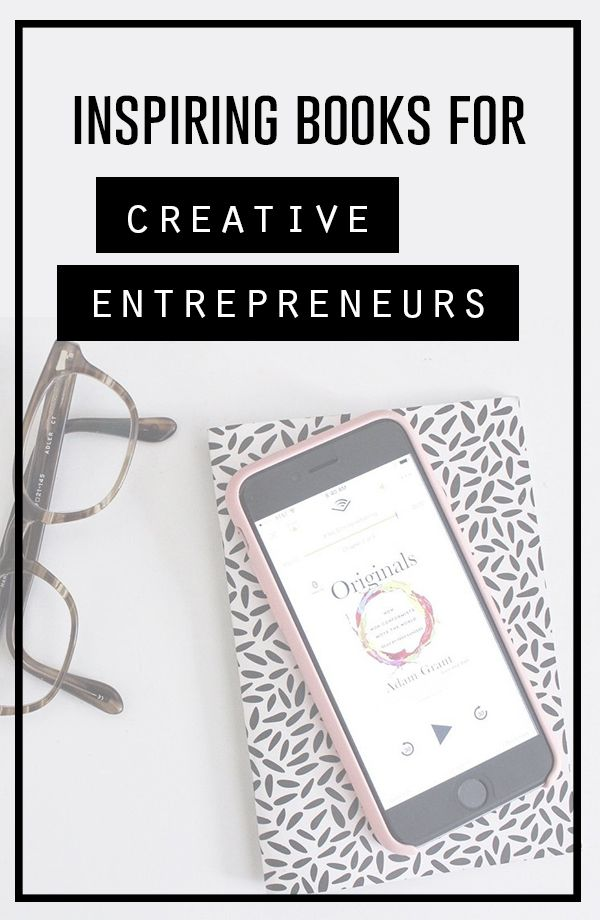 My favorite books for the creative entrepreneur. A list of recommendations for books filled with creativity, inspiration, motivation and education.