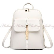 Womens Fashion Leather Backpack Handbag Satchel Lady Bag Student Schoolbag P77