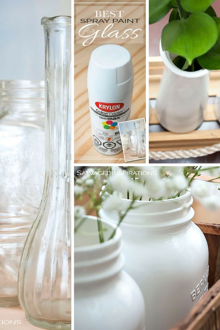 99 best images about painted glass on pinterest mercury for Best paint to use on glass jars