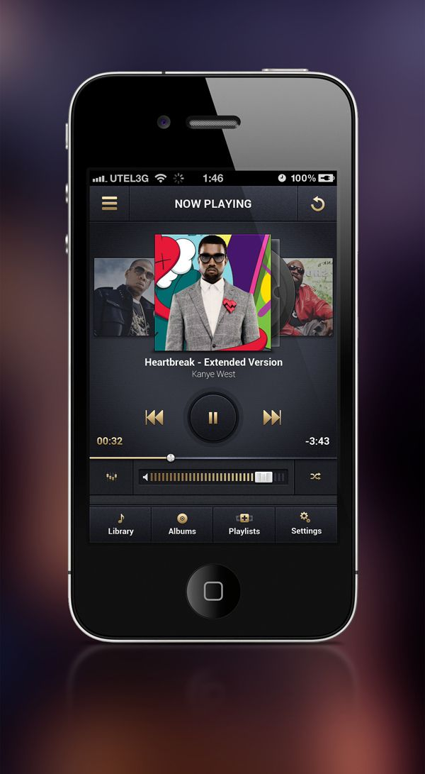 iOS Music player App