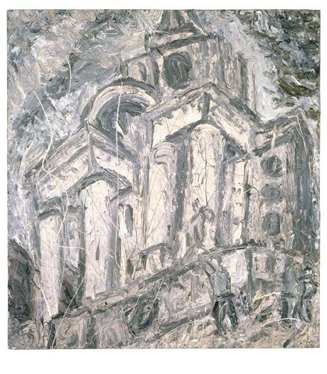 Leon Kossoff  I like the style of kossoff's drawing/painting technique, although his subject matter relates less to my work at the Eden project