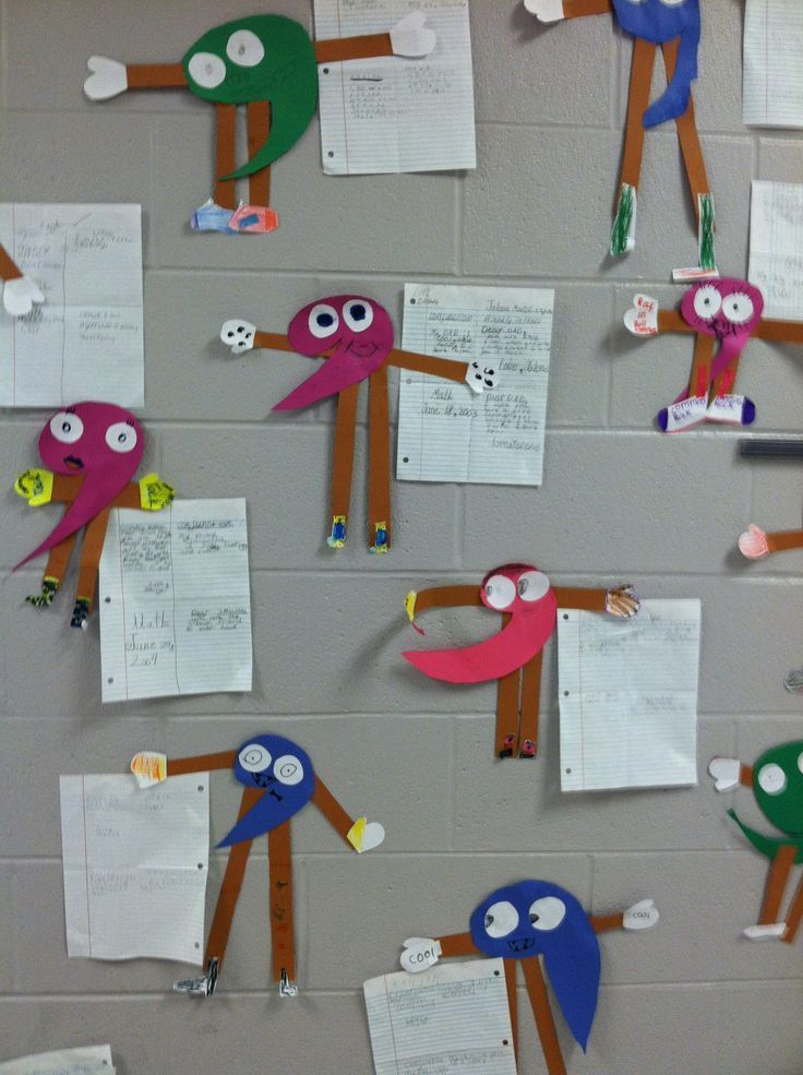 Comma Person. Students create a comma person and write examples of using a comma.