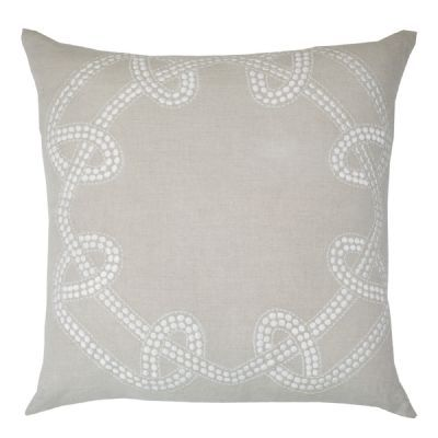 Chain Natural Lounge Cushion 55x55cm - Bandhini Homewear Design