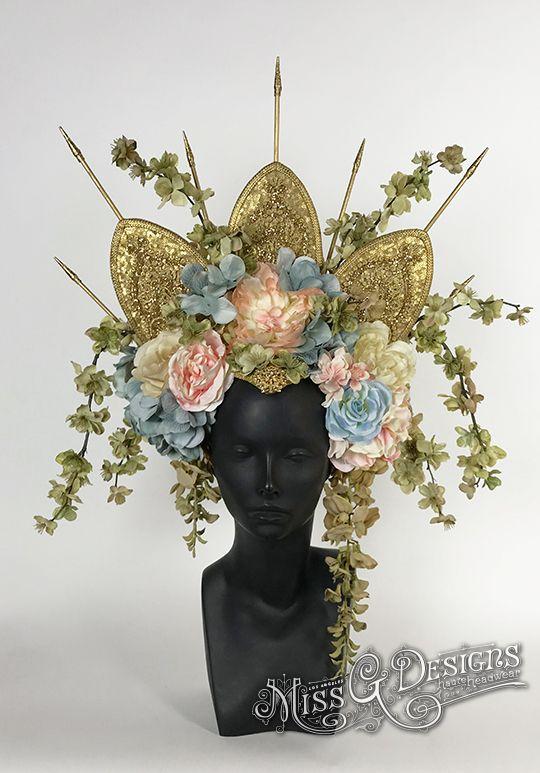 Gold Crown Flower Headdress  etsy.com/shop/MIssGDesignsShop
