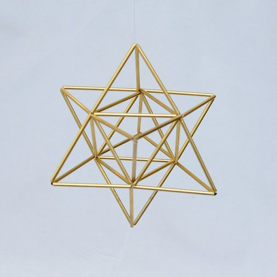EGG OF LIFE Merkaba Tetrahedron Star of David 3 by LithaCreations