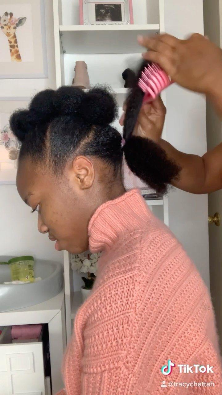 Melaninbabieshub On Instagram Tracychattah How Did I Do Zoom Ready Easy Kid Friendly Natural Hair Natural Hair Mohawk Mohawk Styles Natural Hair Styles
