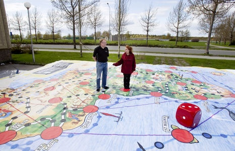 "The world´s largest ""Star of Africa"" - board game. You find it next summer from here Kemi, Finland."