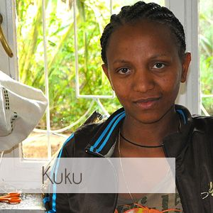 Kuku has worked for Sabahar based in Ethiopia, for five years. Sabahar is a proud member of the World Fair Trade Organisation. Sabahar scarves are available on kulturebox.co.za