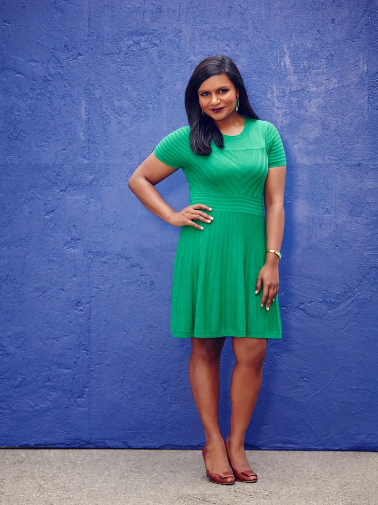 Be bold and choose a dress that flatters your figure in a vibrant shade for summer. (Mindy Kaling)