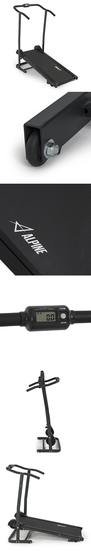 Akonza Fitness Magnetic Manual Treadmill Foldable, Black