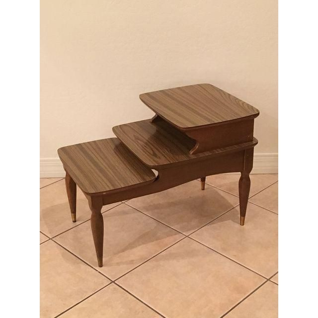 Mid Century 3 Tiered Side Table Side Table Mid Century Furniture Table
