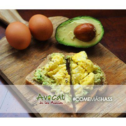 Delicioso desayuno con aguacate y huevo para terminar tu semana con toda la energía #avocatacacias #aguacatehass #consumemashass