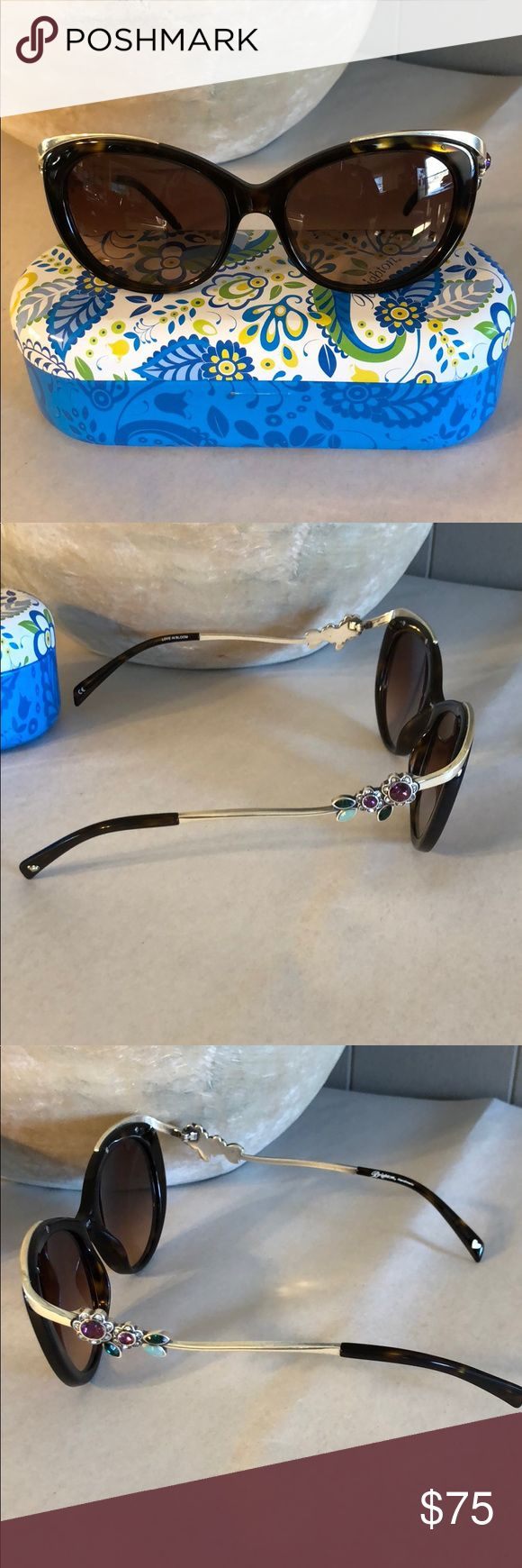 Brighton Love in Bloom Tortoise Cat Eye Sunnies Brighton Love in Bloom Tortoise Cat Eye Sunnies EUC. Only worn a couple of times. Comes with tin case. Brighton Accessories Sunglasses