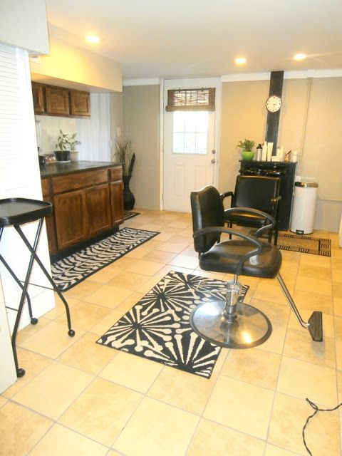 Nice Would Love To Make A Basement Into A Little Salon So I Can Stop Doing Hair. Salon  At HomeHome ...