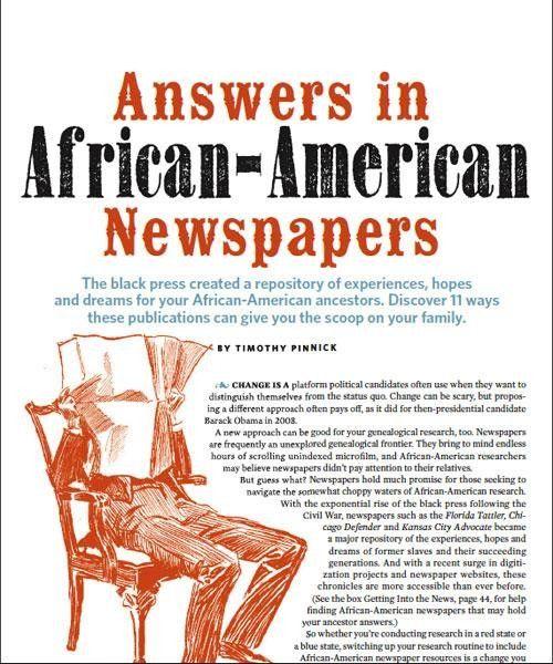 african american newspapers   African-American Genealogy Guide: Using Black Newspapers