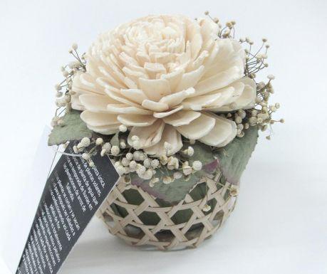 Umělá květina v květináči Single Rose
