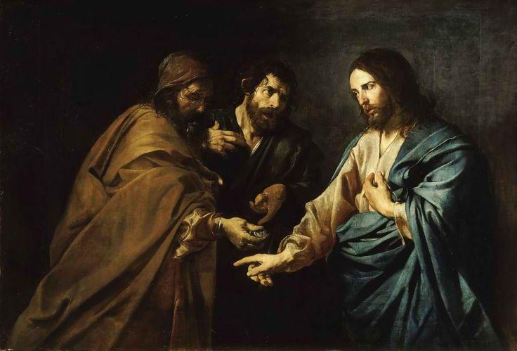 Jean Valentin de Boulogne (1591-1632) The Tribute Money.