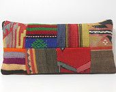 kilim pillow cover extra large cushion handmade pillow handmade pillow cover retro rug pillow pattern DECOLIC patchwork kilim pillow 16457