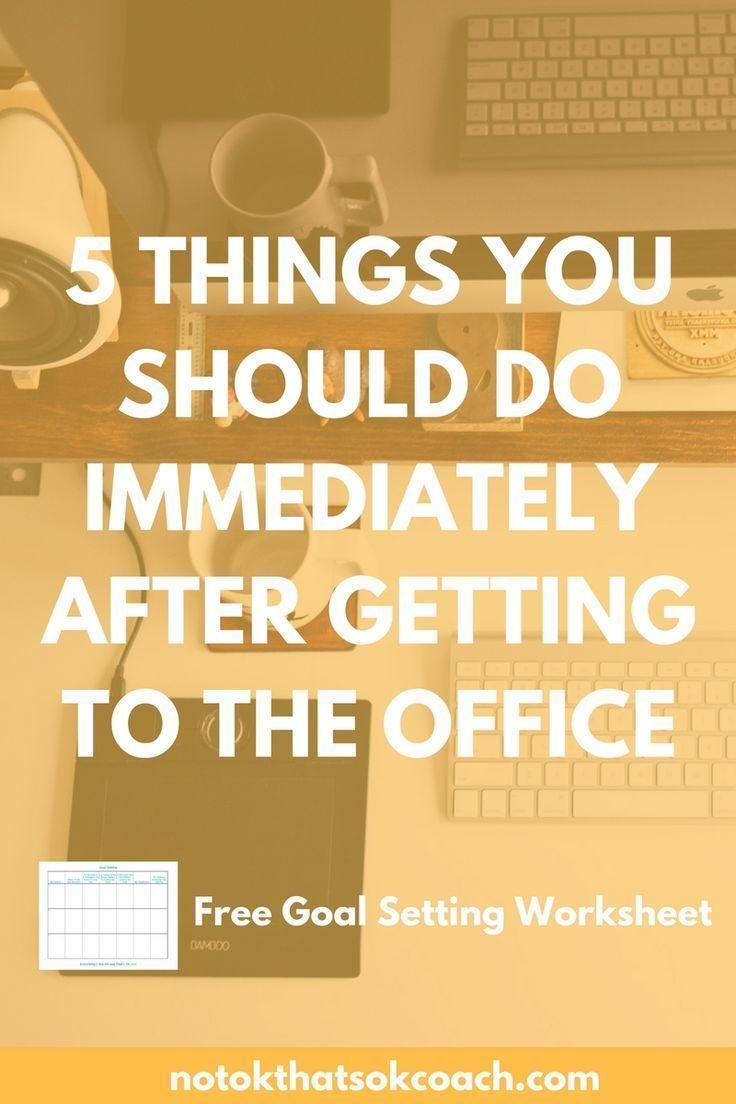 5 Dinge, die Sie sofort nach Ihrer Ankunft im Büro tun sollten, um die Produktivität zu steigern