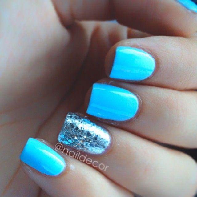 Blue Nail Polish One Finger: 17 Best Ideas About Blue Pedicure On Pinterest