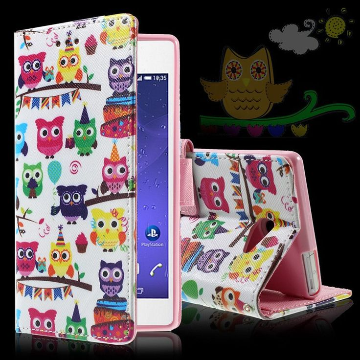 For Sony M 2 Aqua Case Colorful Card Holder PU Leather Wallet Flip Cover For Sony Xperia M2 Aqua Inner TPU Case