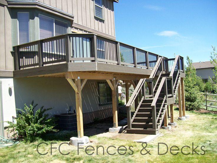 2nd Floor Deck Plans Second Story Deck Decks Backyard Two Level Deck