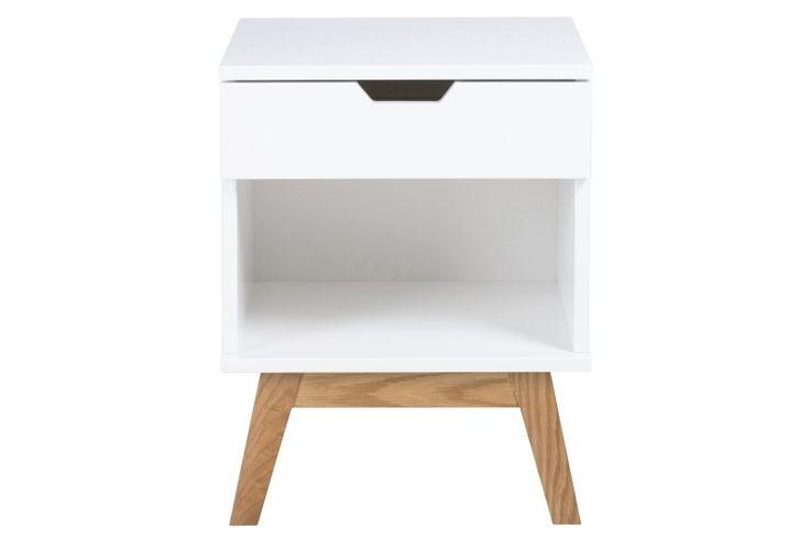 Dit houten nachtkastje heeft dankzij haar eenvoudige ontwerp en frisse ...