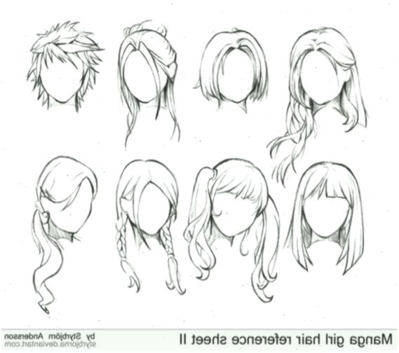 Manga Frisur Zeichnen Frisuren Beliebt In Deutschland 2018 Frisuren Frisurenzeichnen In 2020 Drawing Hair Tutorial Girl Hair Drawing Manga Hair