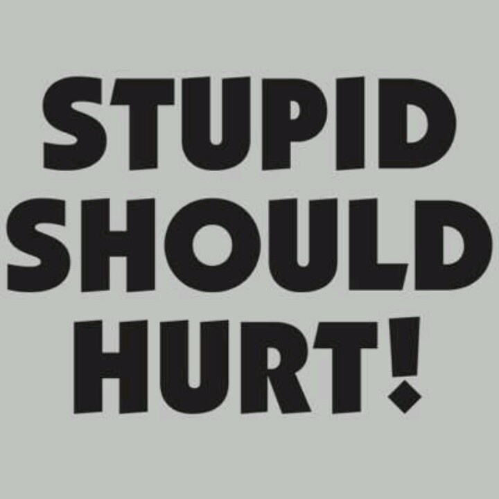 Stupid..Stupid Hurts, Inappropriate Laughter, Quotes Phras, Funny Stuff, Quotable, Humor, Words N Stuff, Stupid People, People Drive