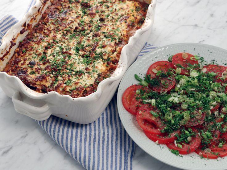 Grekisk gratäng med zucchini, fetaost och linser   Recept från Köket.se