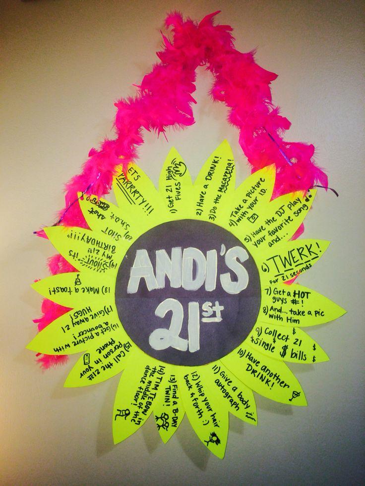 21st Birthday sign/necklace idea