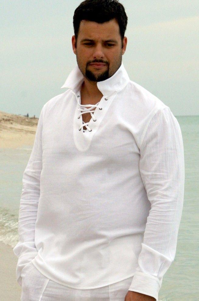 Drawstring Shirt For Men Beach Summer