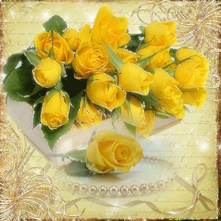 открытки с желтыми цветами никто мешает