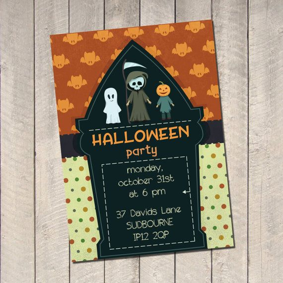 Halloween Party Invitations. Halloween by TheCutePaperStudio