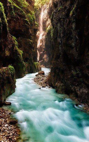 Partnachklamm gorge near Garmisch-Partenkirchen in Bavaria, Germany !!!
