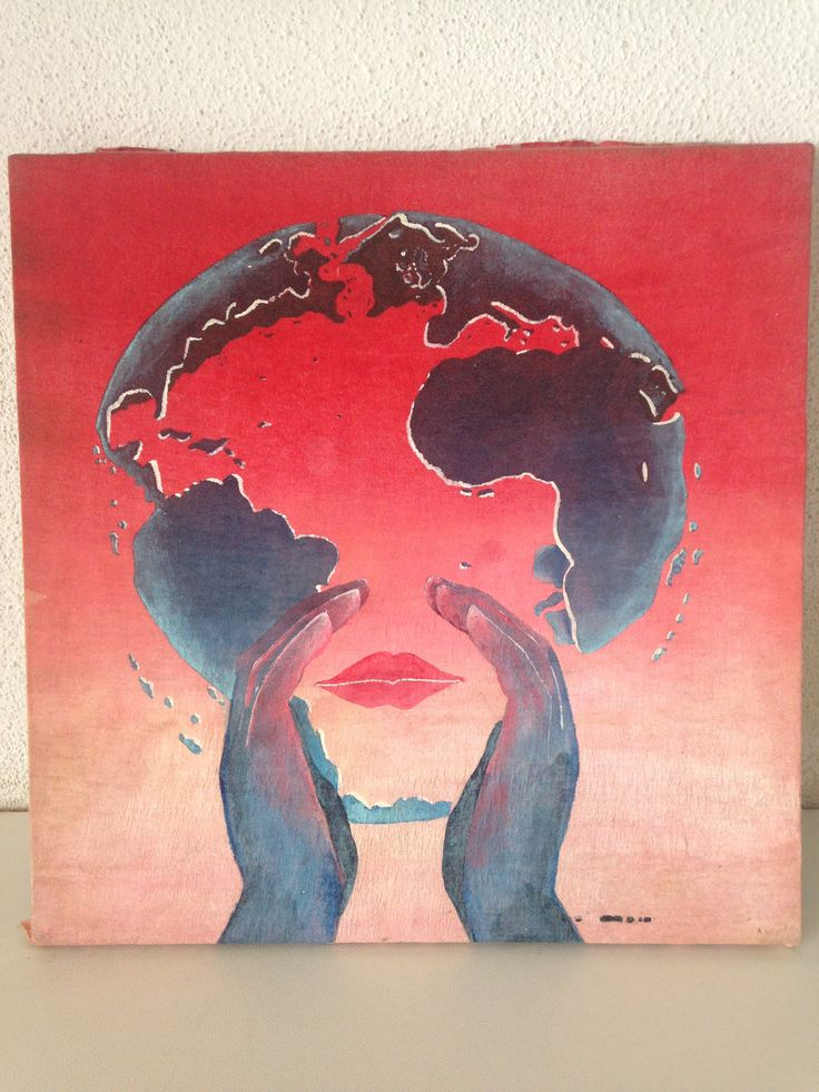 Painting I made on a t-shirt early nineties. It's a copy from artwork off the Jarre Album Rendez vous by Michel Granger. Worn the t-shirt to a jean-michel Jarre concert in 1993 and framed it afterwords.