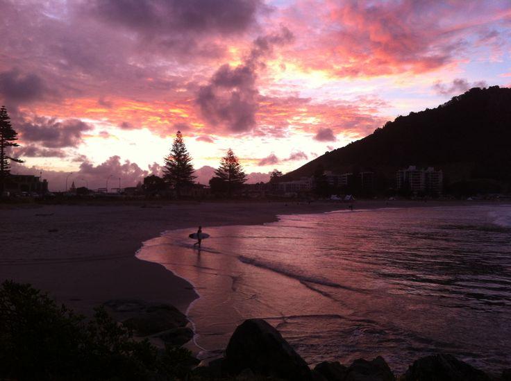 Dusk Mount Maunganui Beach, NZ 2013 Taken by Kelli (admin)