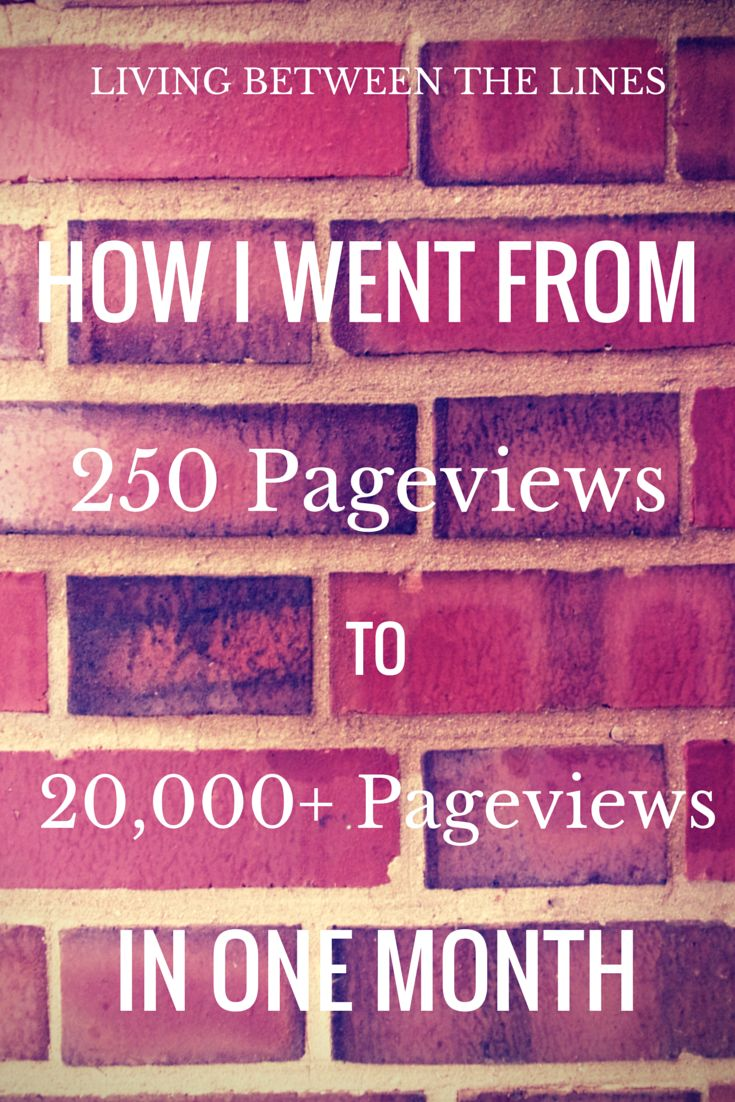 Find Out How I Increased My Monthly Blog Pageviews From 200 To 20,000+ In  Just