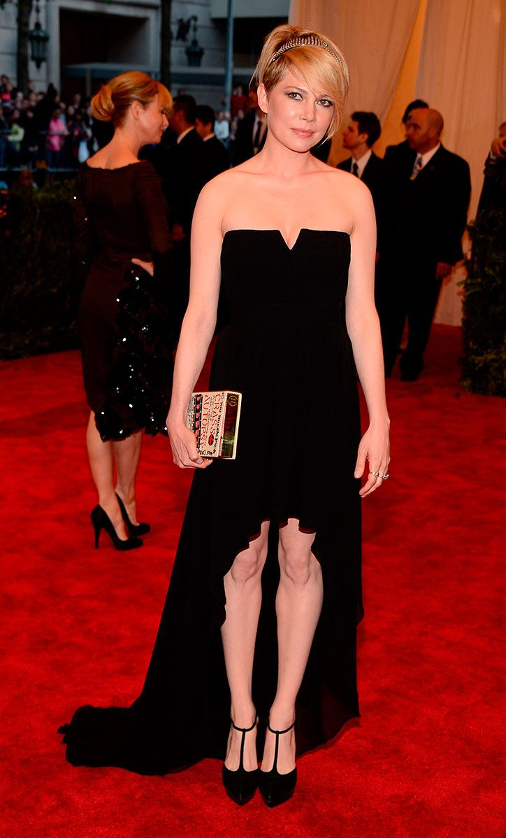"""Met Gala 2013 """"Punk: Chaos to Couture"""": Michelle Williams, en un look de Saint Laurent."""