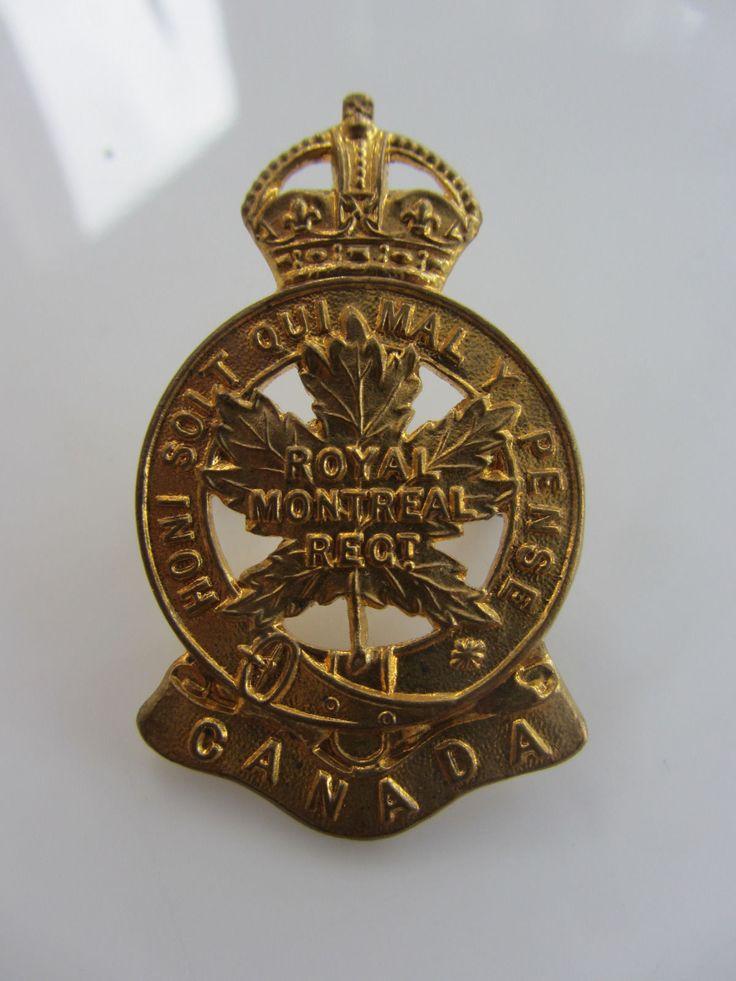 ORIGINAL WW2 CANADIAN CAP BADGE OF THE ROYAL MONTREAL REGIMENT   eBay