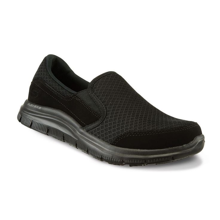 Skechers Work Relaxed Fit Cozard SR Women's Slip-On Shoes, Size: 9 Wide, Grey (Charcoal)