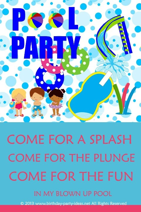 Pool Birthday Party A Collection Of Holidays And Events Ideas To Try Birthday Party