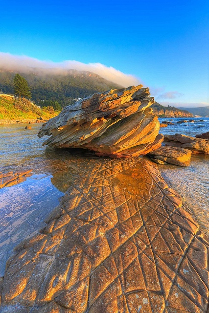 Coalcliff rocks at dawn