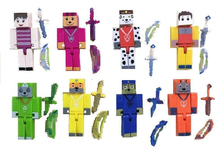 Mini Action Figures Boxed Set Pixelated PAW PATROL Kids Game Toys for LEGO New #fatcatsales