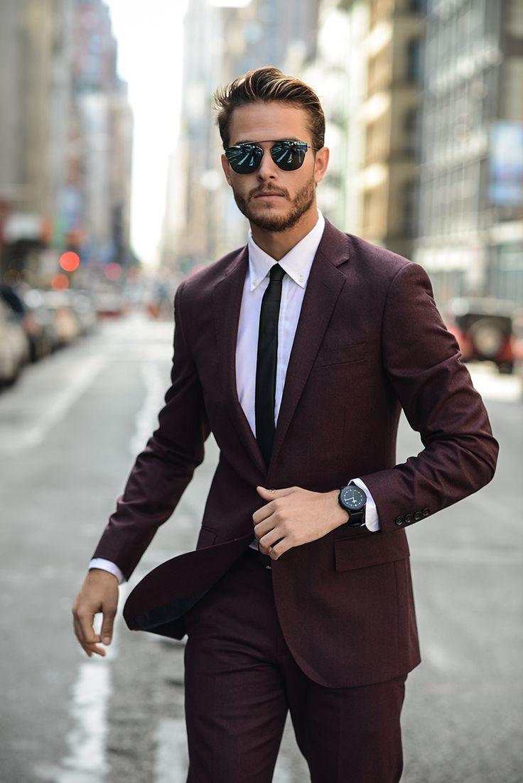 Adam Gallagher wears: Vector watch, JCREW suit, topman tie, hugo boss shoes, DIOR sunglasses, uniqlo shirt.  http://lapelsandlinks.tumblr.com/