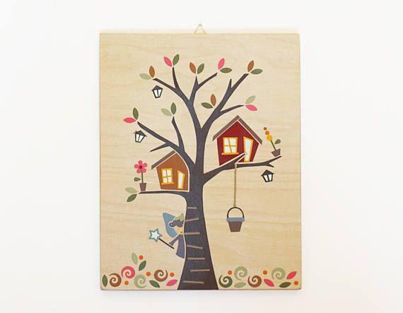 Fairy Nursery Decor Treehouse Nursery Wall Art Fairy Baby