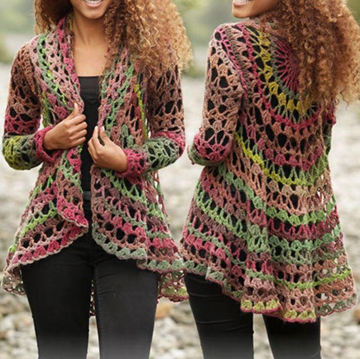 Crochet Circular Jacket Free Pattern Más
