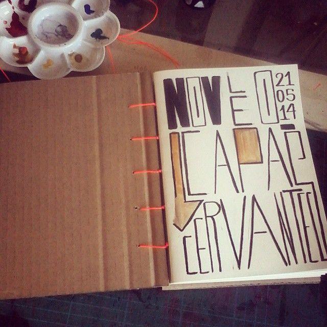 Cervantes capa papelão #caderno #cervantes #sketchbook #sketch #desenho #rabisque