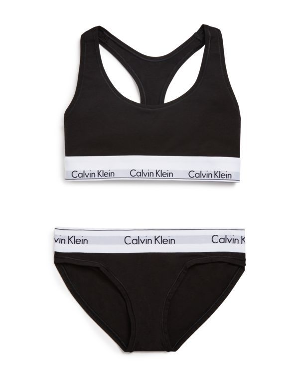 Calvin Klein Underwear Modern Cotton Bralette and Bikini Gift Set #QSET001 | Bloomingdale's