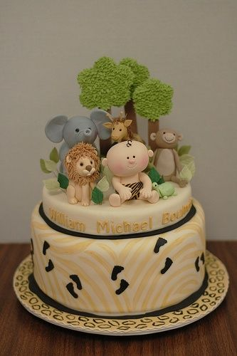 Jungle Babies Baby Shower Cake